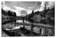 Loch Ard Black and White, Acrylic Print