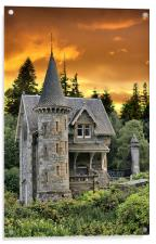 A Fairytale Castle Gatelodge, Acrylic Print