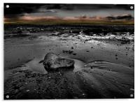 Sand Bay in Black and White, Acrylic Print
