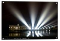 Leeds Castle and Laser Lights, Acrylic Print