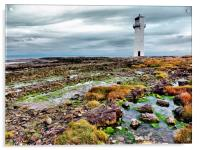 Southerness Lighthouse 1748 hdr, Acrylic Print