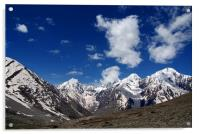Snow Topped Mountains in the Spiti Valley, Acrylic Print