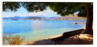 Enjoy The View Puerto Pollensa, Acrylic Print