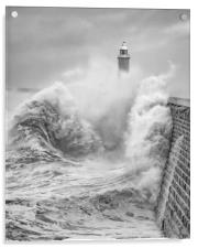Storm Force Tynemouth, Acrylic Print