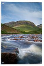 River to Loch Etive, Acrylic Print