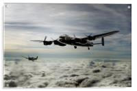 Lancaster and Spitfire Duo, Acrylic Print