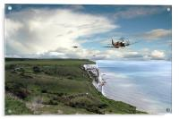 Spitfires Over Dover , Acrylic Print