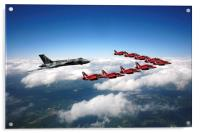 Flying with XH558 and The Reds, Acrylic Print