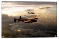 RAF Lancaster and Spitfire, Acrylic Print