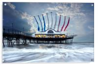 Reds Over The Pier, Acrylic Print
