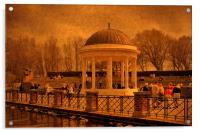 A Stroll around the Bandstand, Acrylic Print