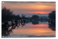 The Gloucester and Sharpness Canal, Acrylic Print