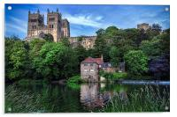 Durham Cathedral and Fulling Mill, Acrylic Print