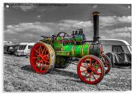 Vintage Steam Traction Engine, Acrylic Print