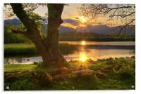 Last Light At Elterwater, Acrylic Print