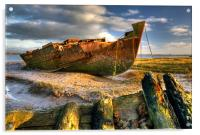Shipwrecks on the River Wyre, Acrylic Print