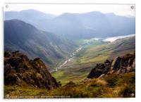 Buttermere As Seen From Dale Head, Acrylic Print