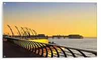 Central Pier Views, Blackpool, Acrylic Print