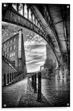 Rochdale canal, Manchester, Acrylic Print