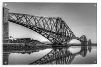 North Queensferry Reflections - B&W, Acrylic Print