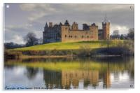 Palace and Church by the Loch, Acrylic Print