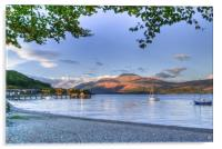 Loch Lomond at Luss From The Beach, Acrylic Print