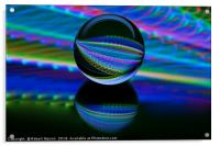 Abstract art All colours in the glass ball, Acrylic Print