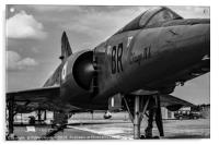 Mirage from nose starboard mono, Acrylic Print