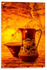 Wash Bowl And Pitcher, Acrylic Print