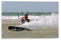 Kite surfing in France, Acrylic Print