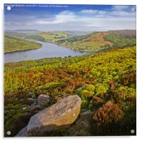Ladybower and Ashopton Viaduct from Bamford Edge, Acrylic Print