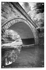 Circles in the River Derwent, Acrylic Print