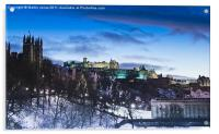 Winter comes to Edinburgh, Acrylic Print