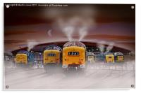 "Deltics -""Napiers in the Mist"", Acrylic Print"
