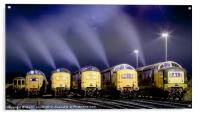 Deltic Smoke in the Night, Acrylic Print