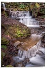 The Waterfalls of Lumsdale, Acrylic Print