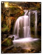 Evening over The Falls at Lumsdale, Acrylic Print