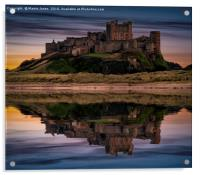 The Fortress of Bamburgh, Acrylic Print