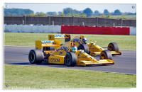Lotus Type 101 and 102T F1 Cars, Acrylic Print