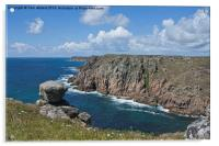 Lands End from Gwennap Head, Acrylic Print