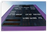 Cricket Score Board, Acrylic Print