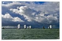 Racing yachts in the Solent, Acrylic Print