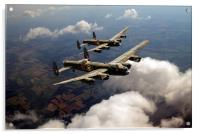 Birds of a feather: two Lancasters, Acrylic Print