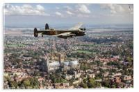"""""""City of Lincoln"""" over the City of Lincoln, Acrylic Print"""