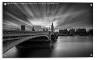 Westminster Bridge and Big Ben, Acrylic Print