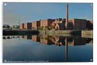 reflections on the canning dock, Acrylic Print