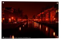 Canals of the Night, Acrylic Print