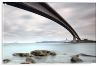 Road Bridge Rocks, Acrylic Print