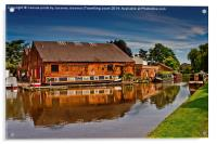 Shardlow Boat yard , Acrylic Print