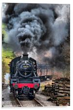 78019 Steam Train In Motion, Acrylic Print